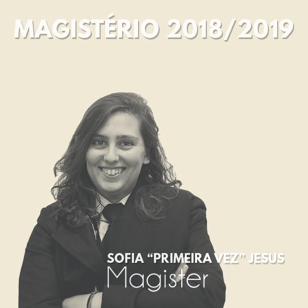 """Magister Sofia """"Primeira Vez"""" Jesus"""